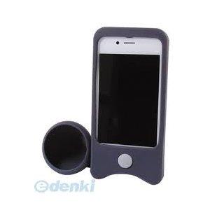 iPhone4/4S用 ケースdeスピーカー(ブラック)最終処分