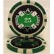Quattro Assi(クアトロ・アッシー)ポーカーチップ100枚セット 【2色グリーン&ブラック】 - 縮小画像2