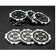 Quattro Assi(クアトロ・アッシー)ポーカーチップ100枚セット 【2色グリーン&ブラック】 - 縮小画像5