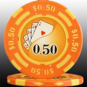 フォースポット チップ ( 50C ) <25枚セット> -カジノチップ・ポーカーチップ - 拡大画像