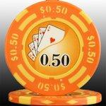 フォースポット チップ ( 50C ) <25枚セット> -カジノチップ・ポーカーチップ