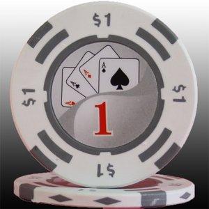 フォースポット チップ ( 1$ ) <25枚セット> - カジノチップ・ポーカーチップ - 拡大画像