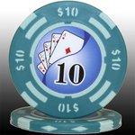 フォースポット チップ ( 10$ ) <25枚セット> - カジノチップ・ポーカーチップ