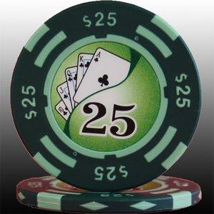 フォースポット チップ ( 25$ ) <25枚セット> - カジノチップ・ポーカーチップ - 拡大画像