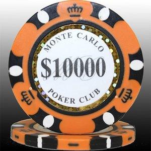 MONTECARLO モンテカルロ・ポーカーチップ<10000>橙 25枚セット - 拡大画像