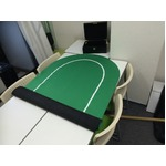 ポーカー・オーバルマット/楕円形 -カラー;グリーン- border=
