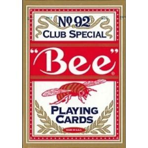Bee ビー [ポーカーサイズ] No.92 Club Special 【レッド ・ ブルー】