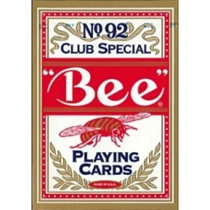 Bee ビー (ポーカーサイズ) No.92 Club Special -レッド- - 拡大画像