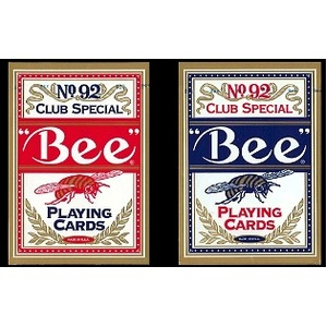 Bee ビー (ポーカーサイズ) No.92 Club Special -ブルー- - 拡大画像