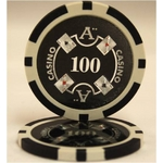 Quattro Assi(クアトロ・アッシー)ポーカーチップ(100)黒 <25枚セット>