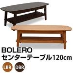 収納棚付きセンターテーブル/ローテーブル 【幅120cm】 ライトブラウン 木製(天然木) 棚板付き 『BOLERO』