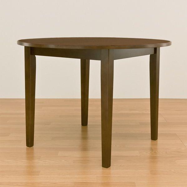 色々使えるシンプルなデザインの「ラウンドダイニングテーブル/リビングテーブル 【丸型 直径100cm】 ブラウン 木製 『サニー』」