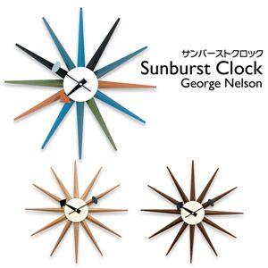 サンバーストクロック(壁掛け時計) 木製/スチール板 幅47cm メープル 【完成品】 - 拡大画像