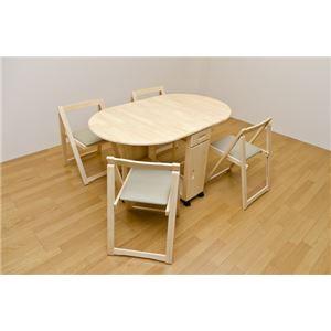 【天然木ダイニングセット】【突板】オーバル型テーブル
