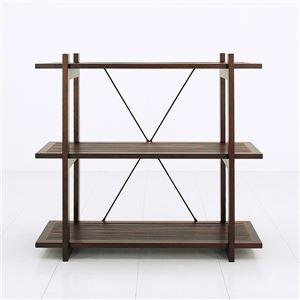 バンブーシェルフ(オープンラック) 【3段】 木製(天然木) 幅87cm×奥行35cm アジアンテイスト