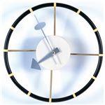 ネルソンステアリングホイールクロック (壁掛け時計) 鉄板 幅30cm ミッドセンチュリー 【完成品】