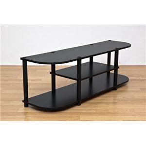 テレビ台/テレビボード 【幅120cm】 ブラック(黒) 棚板収納付き 『Vince』