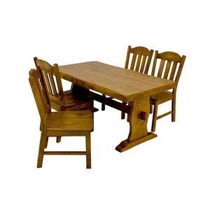 浮造りダイニングチェア(椅子単品) 【1脚入り】 木製(松) 木目調