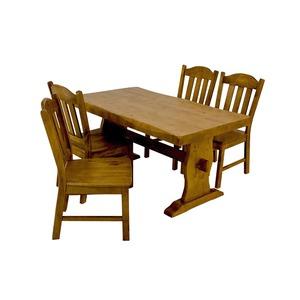 浮造りダイニングチェア(椅子単品) 【2脚入り】 木製(松) 木目調