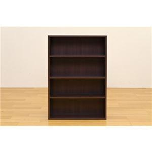 コミックラック(本棚) 【ロータイプ】 木製 幅60cm×奥行16.5cm 揺れ止め/可動棚付き ダークブラウン