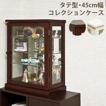 コレクションケース 【タテ型】 木製(天然木)/ガラス 幅45cm×奥行26.5cm ダークブラウン