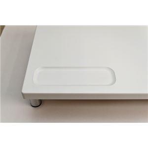 PCモニタースタンド 【ロータイプ】 幅60cm×奥行24cm×高さ6.5cm ホワイト(白)