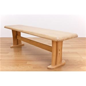 ダイニングベンチ/ダイニングチェア 【幅150cm】 ナチュラル 木製/天然木 『アーク』