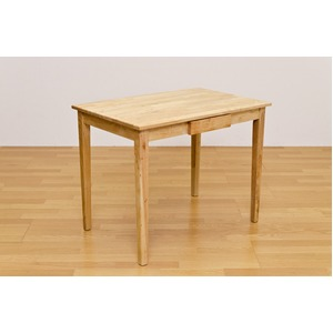 木製テーブル 【長方形 90cm×60cm】 引出し1杯付き ナチュラル 木目調 〔リビング/ダイニング/作業台〕