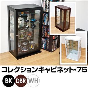コレクションケース/ディスプレイケース 【ブラック】 幅45cm×奥行30cm 強化ガラス使用 - 拡大画像