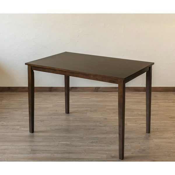 シンプルなデザインの「ダイニングテーブル/リビングテーブル 【長方形/110cm×70cm】 ウォールナット『TORINO』 木製」