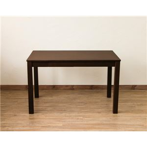 引き出し付きフリーテーブル/ダイニングテーブル 【長方形】 ブラウン 幅115cm×奥行75cm アジャスター付き - 拡大画像