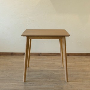 木目調ダイニングテーブル/リビングテーブル 【幅75cm×奥行75cm】 正方形 ナチュラル 『VELA』