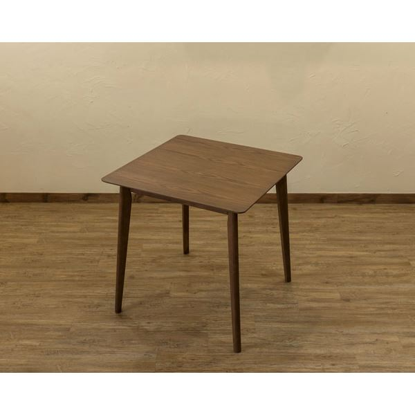 1〜2人用に最適「木目調ダイニングテーブル/リビングテーブル 【幅75cm×奥行75cm】 正方形 ウォールナット『VELA』」