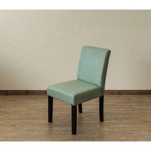 【アウトレット品】 FABダイニングチェア/食卓椅子 【同色2脚入り グリーン】 張地:ファブリック生地 - 拡大画像