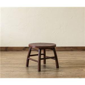 バンブーミニスツール/腰掛け椅子 【円形 2個セット】 ラウンド 直径30cm アジアンテイスト 【完成品】