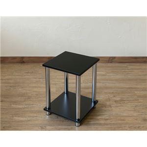 Simple 収納ラック/収納棚 【幅30cm 2段】 ブラック 〔キッチン収納 リビング収納 ディスプレイ家具 什器〕 - 拡大画像