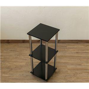 Simple 収納ラック/収納棚 【幅30cm 3段】 ブラック 〔キッチン収納 リビング収納 ディスプレイ家具 什器〕 - 拡大画像