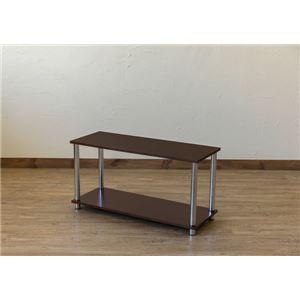 Simple 収納ラック/収納棚 【幅80cm 2段】 ウォールナット 〔キッチン収納 リビング収納 ディスプレイ家具 什器〕 - 拡大画像