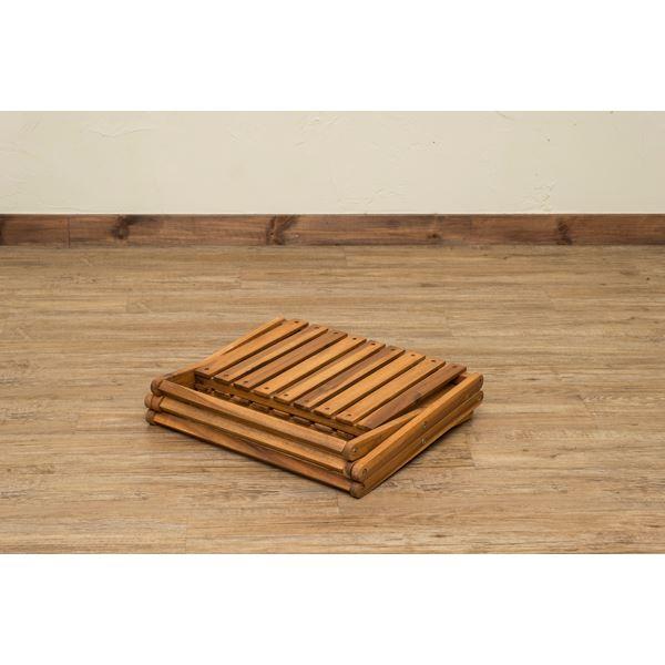 アカシア製 収納ラック/収納棚 【3段】 幅46.5cm 木製 折りたたみ式 高耐久性 防虫効果 【完成品】 〔リビング ダイニング〕