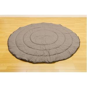 綿入りこたつ布団丸型80cm GY(グレー)