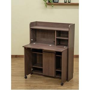 Solano ライティングデスク 90cm幅 ダークブラウン (DBR)