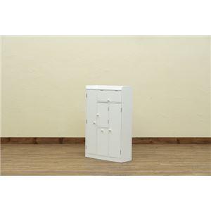 トイレラック ワイド収納 ホワイト(WH) - 拡大画像