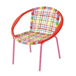 COLORS KID`S ROUND CHAIR RED MIXカラーキッズラウンドチェア