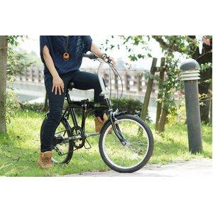 ACTIVE911(アクティブ)20インチ 折り畳み自転車 ノーパンクFDB20 6S ブラック ★SFタイヤ使用【120cmワイヤーロック付 鍵2本】 MG-G206N-BK - 拡大画像