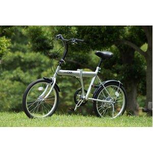 ACTIVE911(アクティブ)20インチ 折りたたみ自転車 ノーパンクFDB20 6S シルバー ★SFタイヤ使用【120cmワイヤーロック付 鍵2本】 MG-G206N-SL - 拡大画像