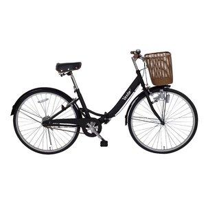 Vent 26インチシティサイクル MG-VT26-BK 折りたたみ自転車 - 拡大画像