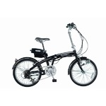 SUISUI 20インチ電動アシスト折畳自転車 ブラック KH-DCY03 BK