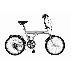 折りたたみ自転車/バイシクル 【シルバー】 ノーパンクタイヤ 20インチ シマノ製6段ギア スチールフレーム 『ACTIVEPLUS911』 - 拡大画像