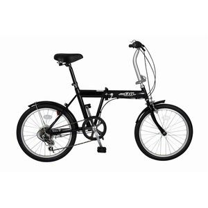 折畳み自転車 ACTIVE911 ノーパンクFDB20 6S MG-G206N-BK - 拡大画像
