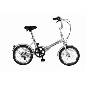 折りたたみ自転車/スポーツバイク 【シングルギア】 シルバー 16インチ スチール 『FIELD CHAMP365』 - 拡大画像